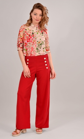 Pantalon Edmond. Pretty Woman. Rouge