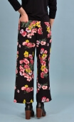 Pantalon Gus Philarmonie, printed trousers, wide and a little short, stretch, flat profile, zip side, patch pockets back and fro