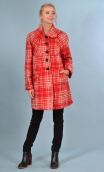 Manteau American Lady. Carreaux. Rouge