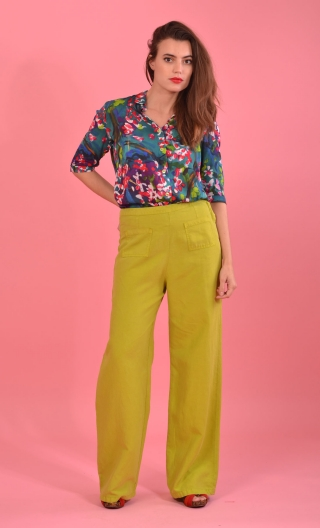 Pantalon Voyage Hippy Chic Canari, fluidity and depth of colors, grace, chic