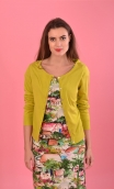 Cardigan Lucy Sweety Citron vert, soft and a little warm thanks to the cotton-silk blend