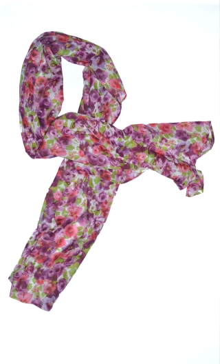 Etole Toscane, Long stole printed, very sweet thanks to the presence of silk. To wear cheche or starlet style of the fifties, fo