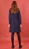Robe St Germain Milano Navy, plain knitted dress, high collar, warm and very comfortable, long sleeves.
